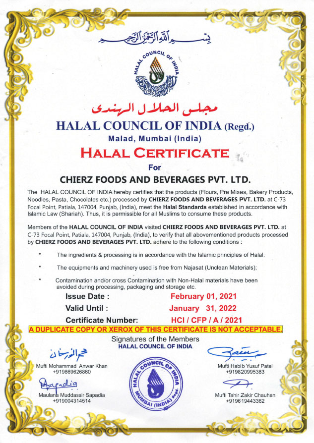 Wheafree Halal Certification